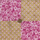 Eternally Pretty Flowers in Pink Fabric Quilt Squares Blocks zL1