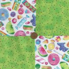 Candy Coated Sugar Sprinkles Pop YUM 100% Cotton Fabric Novelty sz1