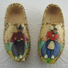 2 Vintage Hand Painted Hand Carved DUTCH Boy Girl Man Woman Made Holland