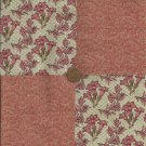 Vintage Love Flowers 4 inch Fabric Quilt Squares Craft  Block rbx2