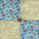 FLOWER FLORAL Sweet  4 inch Fabric Quilt Squares  Block zs1