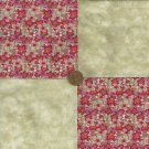 4 inch Floral Wall Beautiful Fabric Quilt Squares Kit zr1