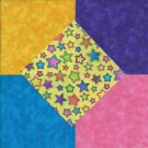 25 4 inch Moda Bright Stars Yellow  Craft Fabric Squares  100% Cotton osr3