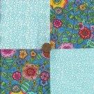 Flower Garden on my Mind  4 inch Cotton Craft Quilt Fabric Squares wz1