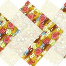 20 4 inch Cupcake and Vanilla Swirls Fabric Quilt Craft Squares OSR5