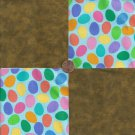 Brown Eggs  4 inch 100% Cotton Novely Fabric  Squares FS2