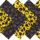 4 inch Halloween Daylight and Twilight Fabric Quilt 100% Cotton Squares osr3