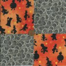 Halloween Trick or Treat Full Moon Cute Cotton Novelty Fabric Squares  sz1