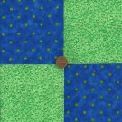 Daisy Dew in Blue   4 inch Fabric Quilt Craft Squares  Block gd3
