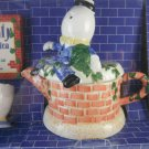 Humpty Dumpty Handpainted Collectible Teapot and Tea Cups. Home Decor tblhx1