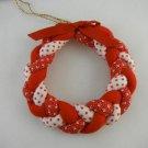 Wreath Christmas Tree Ornament Hand Made USA tbljr1