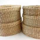 Wicker Basket Set of Five Oval Collectible Home Decor tblhw1
