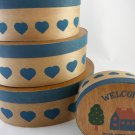Country Collection House Cheese Box Set of Four Home Decor tblza1