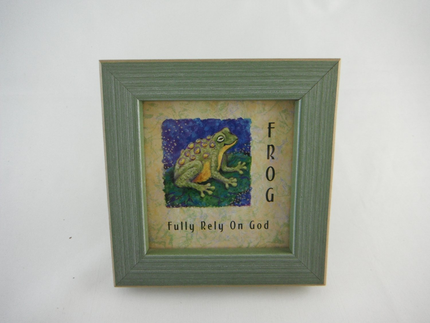 FROG Fully Rely On God Picture Frame Home Decor tblvl0
