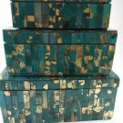 Handcrafted Glacier Mosaic Boxes Set of Three Home Decor tblmh1