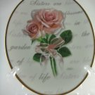 Sisters Forever My Sister My Friend Ceramic Decorative Plate tblqd1