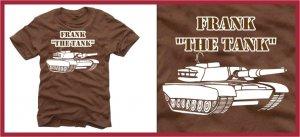 """"" FRANK THE TANK """" ferrell old school T-SHIRT brown Small"