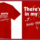 There's a party in my pants Anchorman T-SHIRT red SMALL