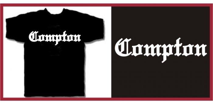 COMPTON EAZY E HIP HOP NWA T-SHIRT BLACK MEDIUM