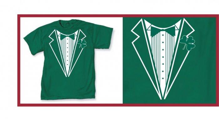 Irish leprecon St. patric tux green T-Shirt Large