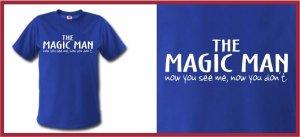 THE MAGIC MAN ferrell Taladega T-SHIRT blue XL