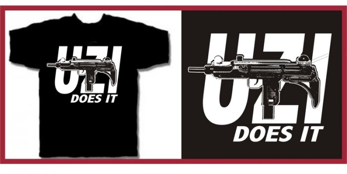 UZI does it Eazy hip e hop gun T-Shirt XL