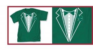 Irish leprecon St. patric tux green X-T-Shirt