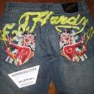 Ed Hardy by Christian Audigier Mens Devil Woman Jeans