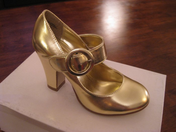 Hot Topic Womens Gold Heels - Size 6M