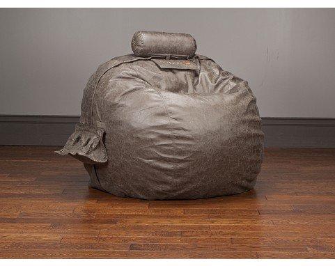 LoveSac Smoke Microleather TubeSac Pillow for Oversized Sacs