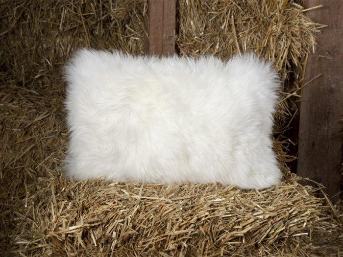 LoveSac Genuine Sheepskin Rectangular Limited Edition Pillow - Rare! ManorSuede Package