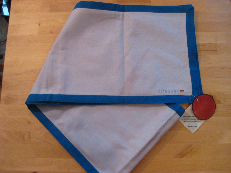 RARE! Original LoveSac Table Runner Dark Blue / Light Blue