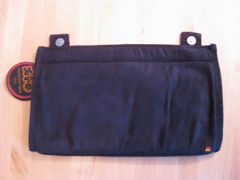 LoveSac Black Microsuede SodaSac Accessory