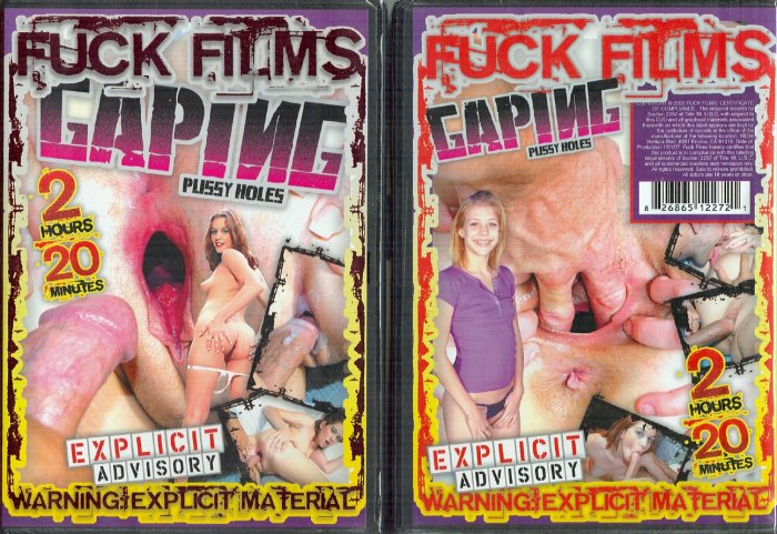 """Fuck Films """"Gaping Pussy Holes"""" DVD 140 minutes"""