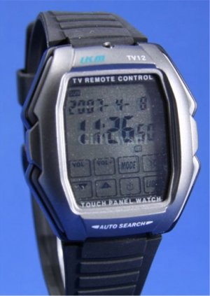 Black Touch Screen TV Remote Control WRIST WATCH (TV12)
