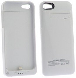 Battery Case for iPhone 5S, iPhone 5 - White