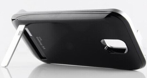 Black Battery Pack Case With Stand for Samsung Galaxy S4