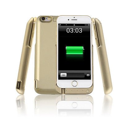 7000mAh Battery Case for iPhone 6S, iPhone 6 - Gold