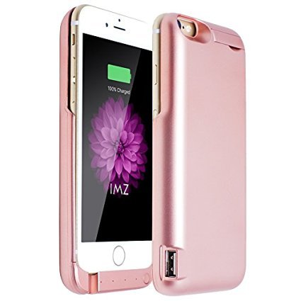 Rose Gold Battery Case for iPhone 6S Plus, iPhone 6 Plus
