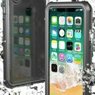 Black Protective Waterproof Case for iPhone X