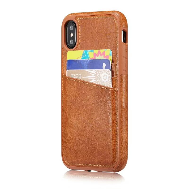 Leather Case for iPhone X - Saddle Brown