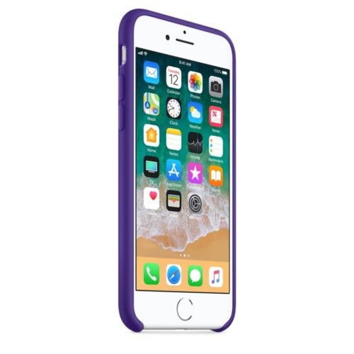 Silicone Case for iPhone 8 Plus, iPhone 7 Plus - Ultra Violet