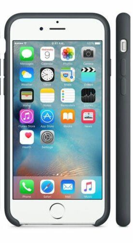 Silicone Cover for iPhone 6, iPhone 6S - Charcoal Gray
