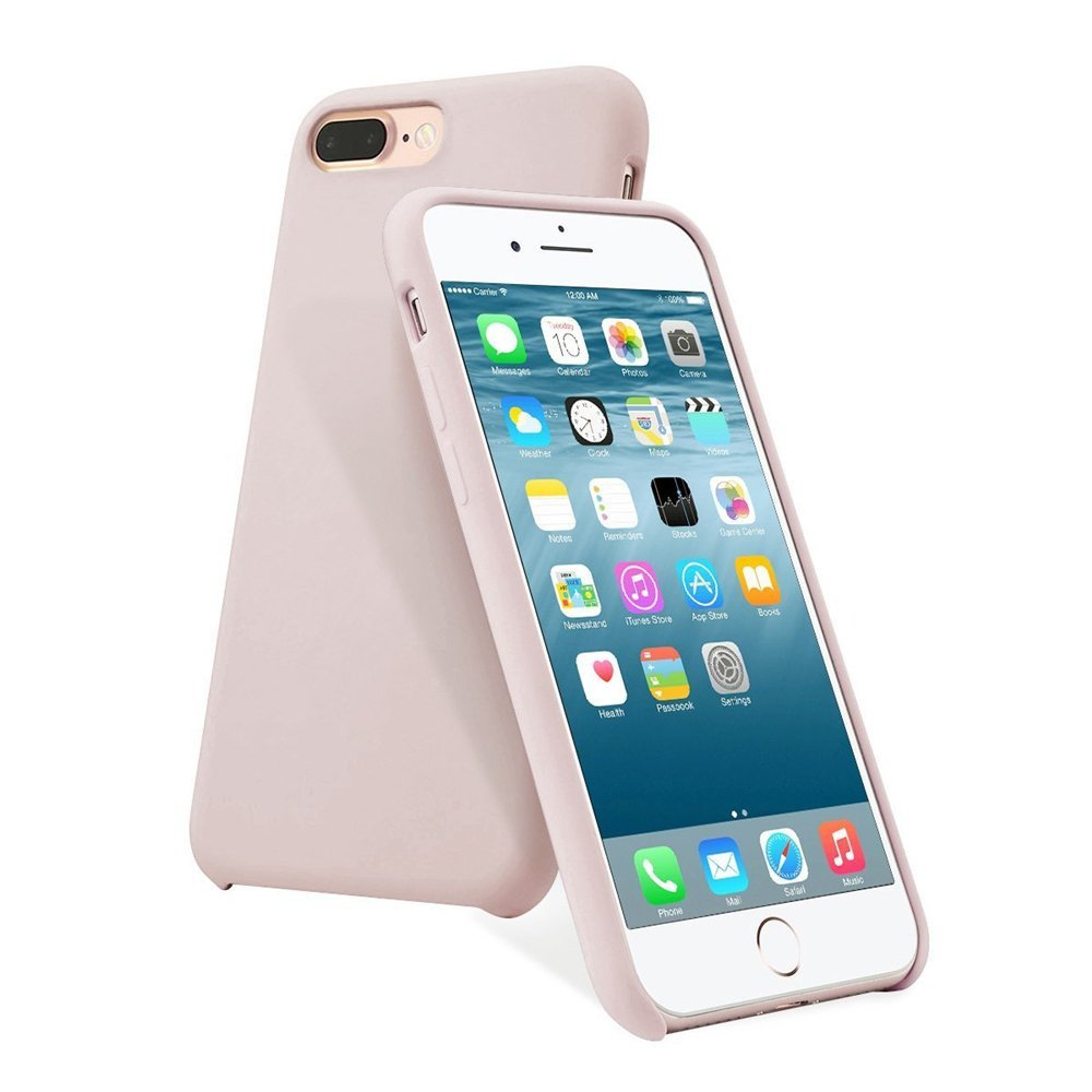 Silicone Case for iPhone 8 Plus, iPhone 7 Plus - Pink Sand