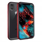 Waterproof Case for iPhone XS, iPhone X - Red/Black