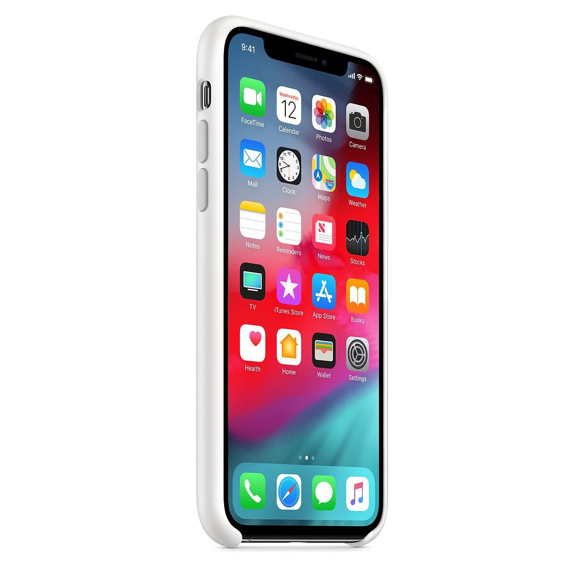 Silicone Cover for iPhone XS - White