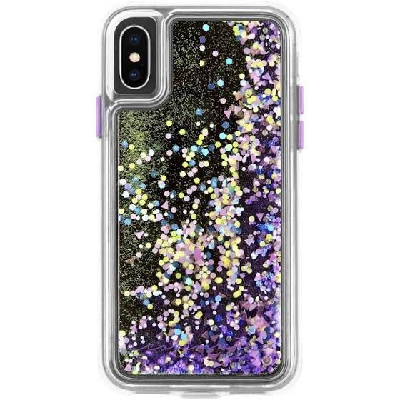 Waterfall Case for iPhone XS, iPhone X - Purple Glow