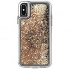 Waterfall Case for iPhone XS, iPhone X - Gold
