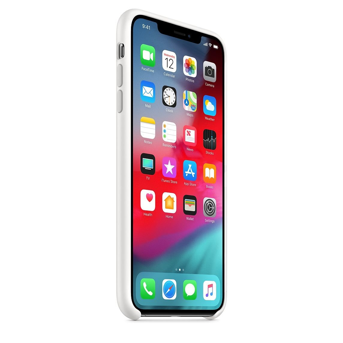 White Silicone Case for iPhone XS Max
