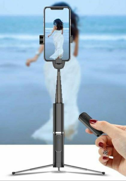 Portable Selfie Stick for iPhone XS Max, iPhone XR, iPhone 8 Plus, Samsung Galaxy S10